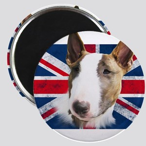 Bull Terrier UK grunge flag Magnet