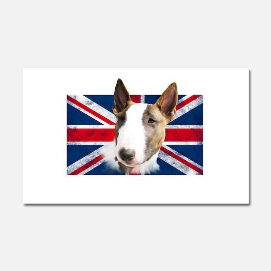 Bull Terrier UK grunge flag Car Magnet 20 x 12