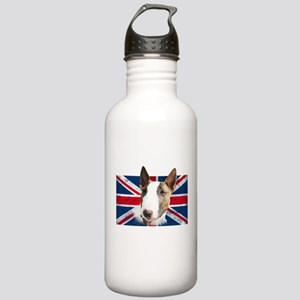 Bull Terrier UK grunge flag Water Bottle