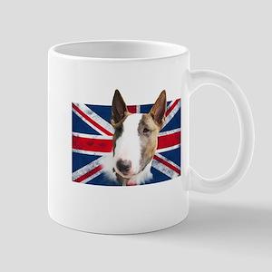 Bull Terrier UK grunge flag Mug