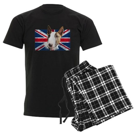 Bull Terrier UK grunge flag Pajamas