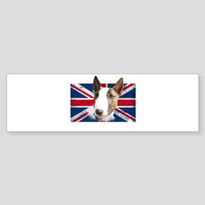 Bull Terrier UK grunge flag Bumper Sticker