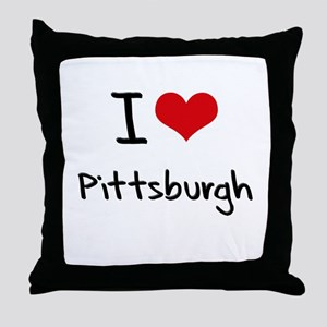 I Heart PITTSBURGH Throw Pillow