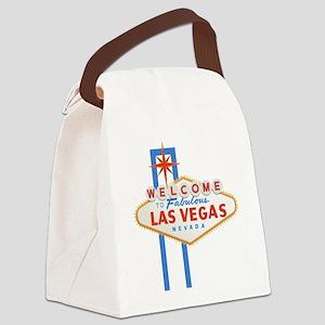 Las Vegas Sign Canvas Lunch Bag