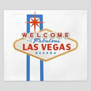 Las Vegas Sign King Duvet