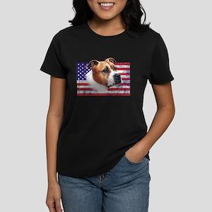 AmStaff USA grunge flag - American Staffordshire T