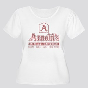 Arnold's Drive In Women's Plus Size Scoop Neck T-S