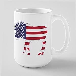 US Flag Moose Mug