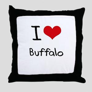 I Heart BUFFALO Throw Pillow