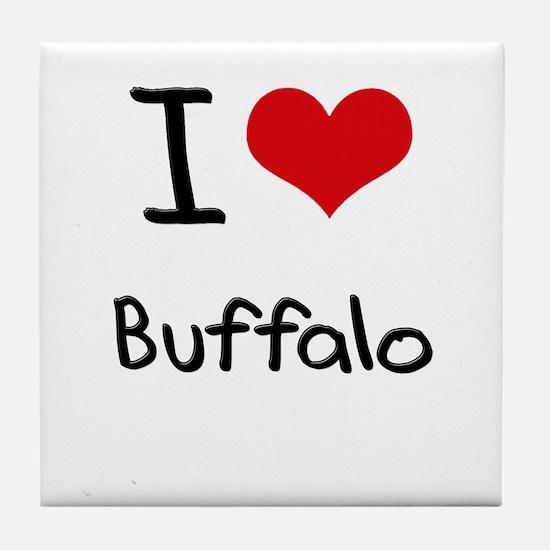 I Heart BUFFALO Tile Coaster