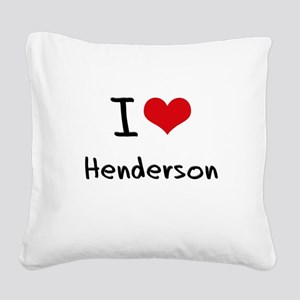 I Heart HENDERSON Square Canvas Pillow