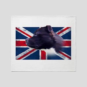 Staffbull UK grunge flag - Staffordshire Bullterri
