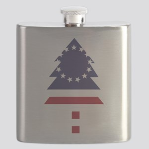 Betsy Ross Flag Pine Tree Flask