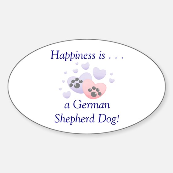 Happiness is...a German Shepherd Dog Decal