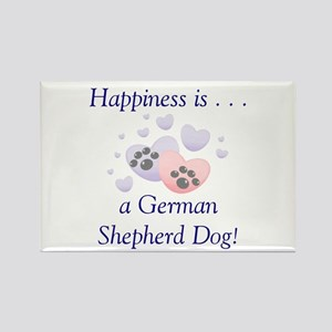 Happiness is...a German Shepherd Dog Rectangle Mag