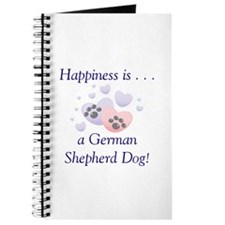 Happiness is...a German Shepherd Dog Journal