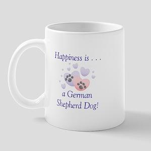 Happiness is...a German Shepherd Dog Mug