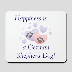 Happiness is...a German Shepherd Dog Mousepad