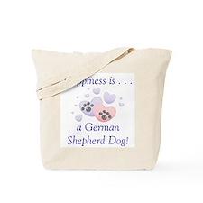 Happiness is...a German Shepherd Dog Tote Bag