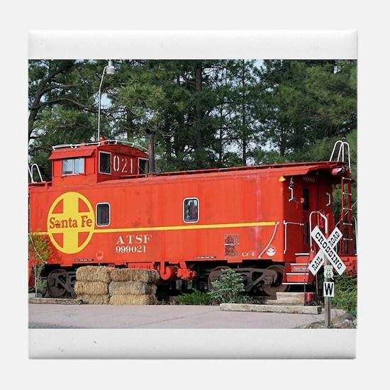 Santa Fe Railway Train Caboose, Williams, Arizona,