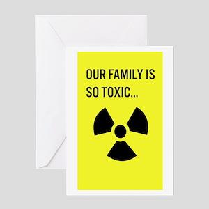 Toxic Family Greeting Card