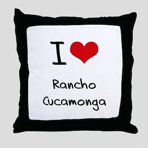 I Heart RANCHO CUCAMONGA Throw Pillow