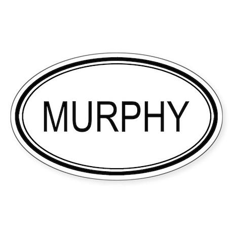 Murphy Oval Design Oval Sticker