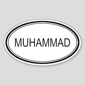 Muhammad Oval Design Oval Sticker
