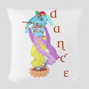 Hare Krishna Dance ! Woven Throw Pillow