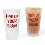 Fire Up Drinking Glass