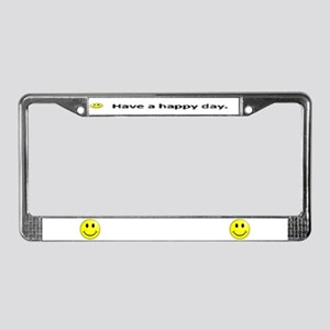 Happy Face License Plate Frame