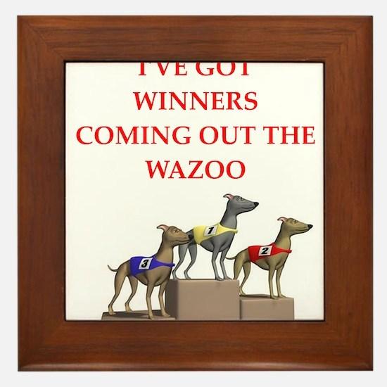dog racing Framed Tile