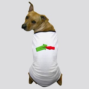 green and red arrow Dog T-Shirt