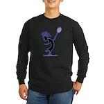 Kokopelli Tennis Player Long Sleeve Dark T-Shirt