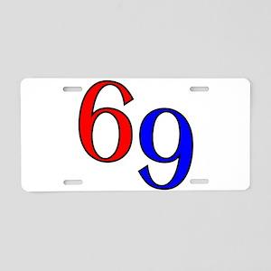 Bold 69 Aluminum License Plate