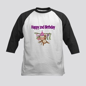 HAPPY 2nd BIRTHDAY WITH CUTE MONKEY Baseball Jerse
