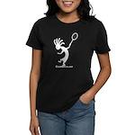 Kokopelli Tennis Player Women's Dark T-Shirt