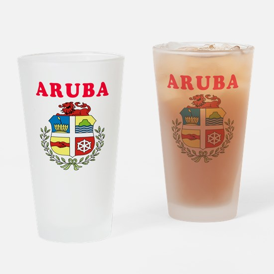 Aruba Coat Of Arms Designs Drinking Glass