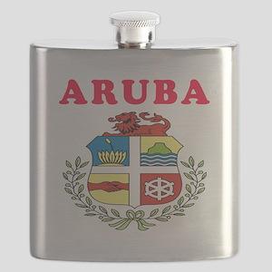 Aruba Coat Of Arms Designs Flask