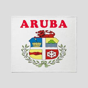 Aruba Coat Of Arms Designs Throw Blanket