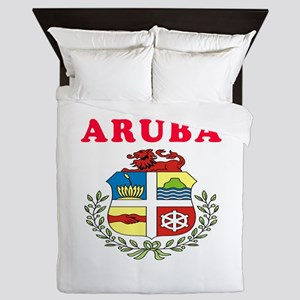 Aruba Coat Of Arms Designs Queen Duvet