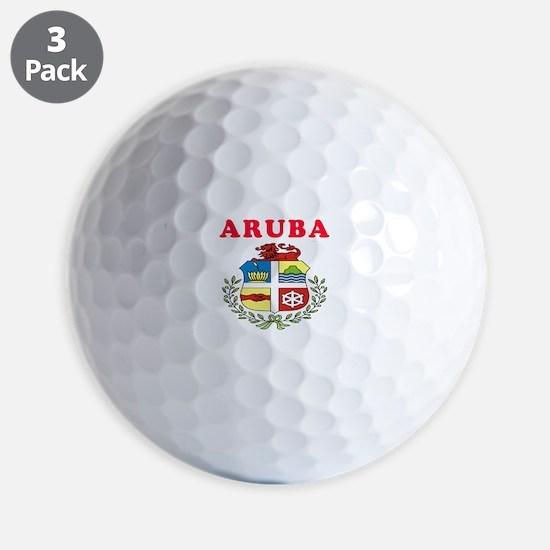 Aruba Coat Of Arms Designs Golf Ball