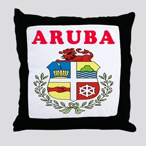 Aruba Coat Of Arms Designs Throw Pillow
