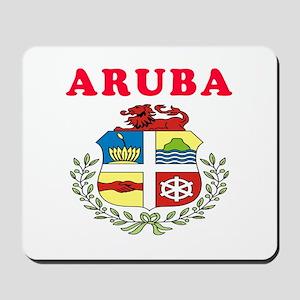 Aruba Coat Of Arms Designs Mousepad