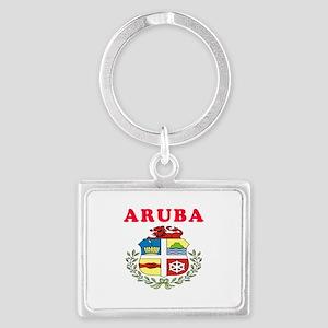 Aruba Coat Of Arms Designs Landscape Keychain