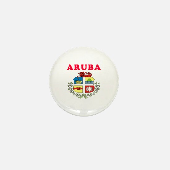 Aruba Coat Of Arms Designs Mini Button