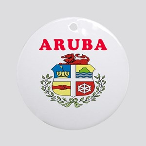 Aruba Coat Of Arms Designs Ornament (Round)