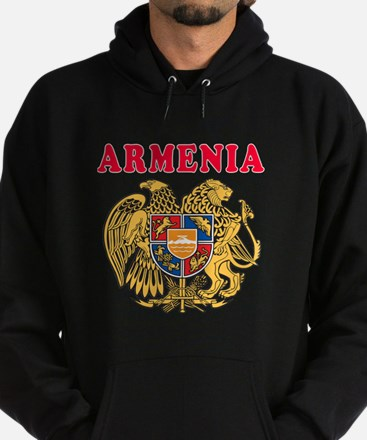 Armenia Coat Of Arms Designs Hoodie (dark)