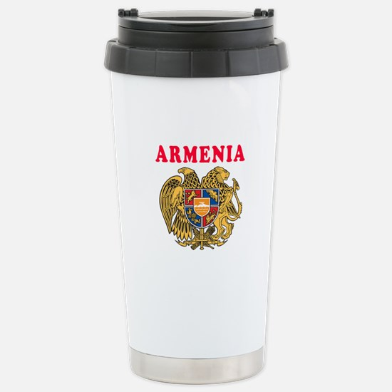 Armenia Coat Of Arms Designs Stainless Steel Trave