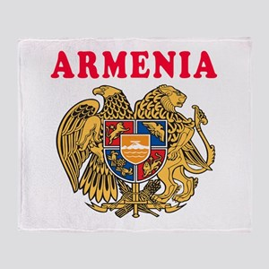 Armenia Coat Of Arms Designs Throw Blanket